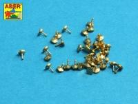 Gedrehte Nieten - 0,9 x 1,3 x 0,5mm - 40 Stück