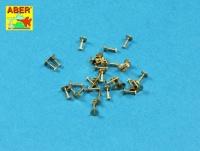 Gedrehte Sechskantbolzen - 1,34 x 2,6mm - 30 Stück