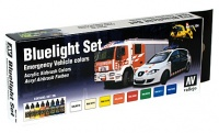 Model Air Set - Emergency Vehicle Colors - Bluelight Set