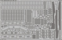 Photo-Etched Parts Deck for 1/200 HMS Hood - Trumpeter 03710 - 1/200