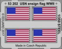 US Navy Flagge 2. Weltkrieg - Stahl