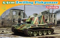 5.5cm Zwilling - Flakpanzer - 1:72