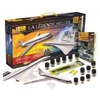 La Légende Heller - Modell Set (Caravelle + Concorde) + Buch - Limited Edition - 1:100