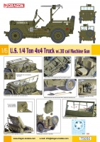 US 1/4 Ton 4x4 Truck with .30 cal Machine-Gun - Willys MB - 1:6