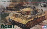 Tiger I Ausf. E - späte Produktion inkl. Besatzung (5 Figuren) - 1:35
