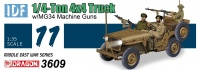IDF 1/4 Ton 4x4 Truck with MG 34 Machine Gun - 1/35