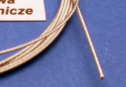 Edelstahl Abschleppseil,  Ø 0,6 mm, 1,0 Meter lang