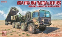 NATO US Army M1014 Tractor mit BGM-109G - Ground Launched Cruise Missile - 1:72