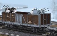 German Railway Gondola Typ Ommr with 2cm Flakvierling 38 - 1:35