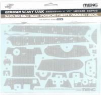 Zimmerit Decal-Sheet for King Tiger with Porsche Turret- MENG TS-037 - 1/35
