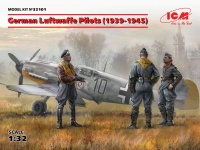 German Luftwaffe Pilots - 1939 - 1945 - 3 figures - 1/32