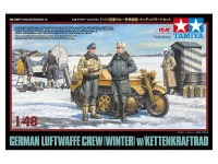 German Luftwaffe Crew - Winter - with Kettenkrad - 1/48