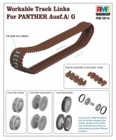 Workable Track Links for Sd.Kfz. 171 Panther Ausf. A / G - 1/35