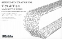 Single Pin Tracks for T-72 & T-90 Main Battle Tanks - Cement free workable Tracks - 1/35