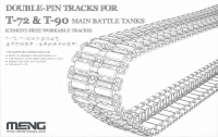 Double Pin Tracks for T-72 & T-90 Main Battle Tanks - Cement free workable Tracks - 1/35