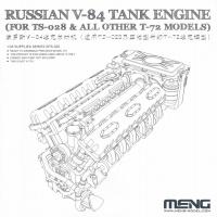 Russian V-84 Tank Engine für Meng TS-028 und andere T-72 Modelle - 1:35