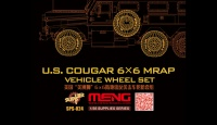 US Cougar 6x6 MRAP - Vehicle Wheel Set - 1:35