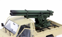 Pickup Mounted Quad Rocket Launcher - 1/35