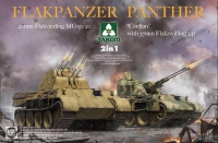 Flakpanzer Panther - 20mm Flakvierling 151/20 - Coelian 37mm Flakzwilling 341 - 2in1 - 1:35