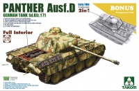 Panther Ausf. D - Sd.Kfz. 171 - 2in1 - Early - Mid Production with full Interior - 1:35