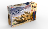 US Main Battle Tank M1A2 Abrams Tusk I / Tusk II SEP - Christmas Edition - 1:35