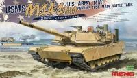 USMC M1A1 AIM / US Army M1A1 Abrams TUSK - Main Battle Tank - 1:35