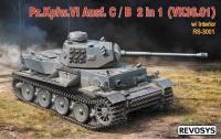 VK 36.01 - Pz.Kpfw. VI Ausf. C / B - 2in1 - mit Inneneinrichtung - 1:35