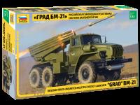 BM-21 - GRAD - Russian Truck-Mounted Multiple Rocket Launcher - 1:35
