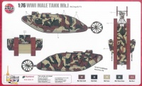Male Tank Mk. I WWI - 1:76