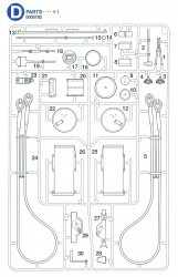 D Parts (D1-D30) for Tamiya Tiger I (56010) 1:16