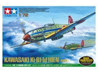 Kawasaki Ki-61-Id Hien - Tony - Silver color plated - inkl. Decals für Tarnmuster - 1:72