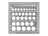 Modeling Template - Round, 1-12.5mm - Stainless Steel - Photo-etched plate