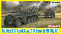 Sd.Kfz. 10 Ausf. A with 10,5cm leFH18/40 - 1:35