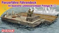 Panzerfähre Fährendeck mit gepanzerter Landwasserschlepper Protoyp Nr. II - 1:72
