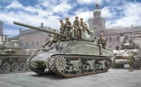 M4A1 Sherman with US Infantry - 1:35