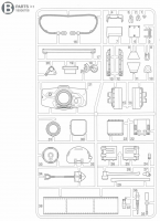 B Parts (B1-B38) for Tamiya M551 Sheridan (56043) - 1/16