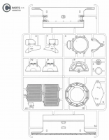 C Parts (C1-C15) for Tamiya M551 Sheridan (56043) - 1/16