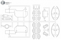 E Parts (E1-E13) for Tamiya M551 Sheridan (56043) - 1/16