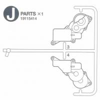 J Teile (J3 - J4) für Tamiya 56037 / 56041 / 56043 - 1:16