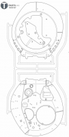 T Parts (T1-T3) for Tamiya M551 Sheridan (56043) - 1/16