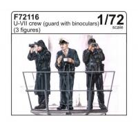 U-Boot Typ VII - Besatzung - 3 Figuren - Wache mit Ferngläsern - 1:72