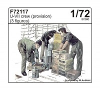 U-Boot Typ VII - Besatzung - 3 Figuren - Proviant - 1:72