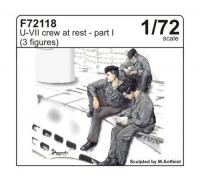 U-Boot Typ VII - Besatzung - 3 Figuren - Pause - Teil I - 1:72