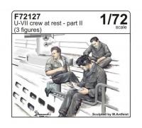 U-Boot Typ VII - Besatzung - 3 Figuren - Pause - Teil II - 1:72