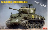 M4A3E8 Sherman - Easy Eight - US Medium Tank with workable Tracks - 1:35