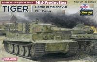 Tiger I - Mittlere Produktion - Otto Carius - Battle of Malonovka - mit Zimmerit - 1:35