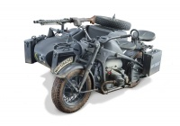 German Military Motorcycle with Sidecar - Zündapp KS750 - 1/9