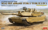 M1A2 SEP Abrams Tusk I / Tusk II - US Main Battle Tank - 2in1 - with full interior - 1/35
