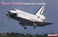 Space Shuttle with Cargo Bay and Satellite - 1/144
