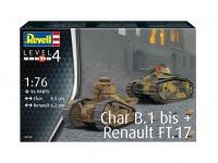 Char. B.1 bis & Renault FT-17 - 1/76